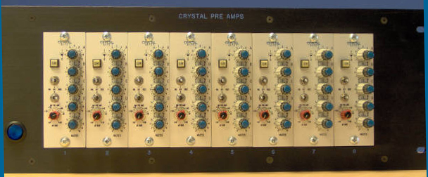 Crystal microphone preamps